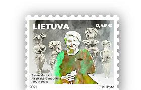 Pašto ženkle įamžinta Lietuvą garsinusi archeologė B.M.Alseikaitė-Gimbutienė