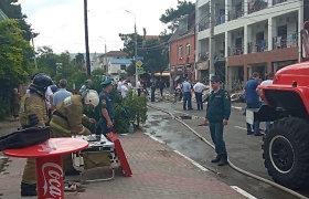 Gelbėtojai baigė nukentėjusiųjų paiešką po sprogimo Rusijos viešbutyje, žuvo vienas žmogus
