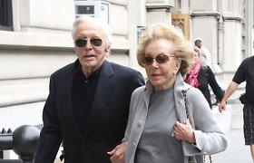 Legendinis Holivudo aktorius Kirkas Douglasas su žmona Anne