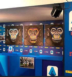 Į kovą su rasizmu Italijos futbolas siunčia beždžionę: menas ar provokacija?