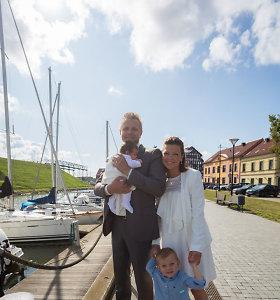 Agnės Kišonaitės ir Manto Kubiliaus dukters Lilijos krikštynos