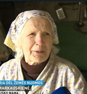 Dviejų sklypų nuomos sutarčių neturėjusią Broniaus Markausko mamą NMA nubaudė 1,1 tūkst. eurų bauda