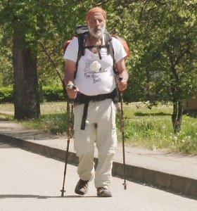 5000 kilometrų piligriminę kelionę afrikietis pradėjo Lietuvoje