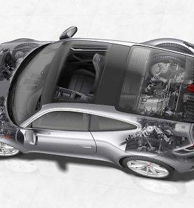 """""""Porsche"""" gamins 911 hibridus: kur jie dės elektrinį variklį?"""