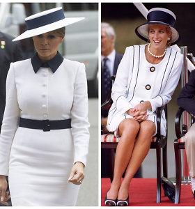 Internautai išgyrė Melanios Trump įvaizdį Bakingamo rūmuose: lygina su princese Diana