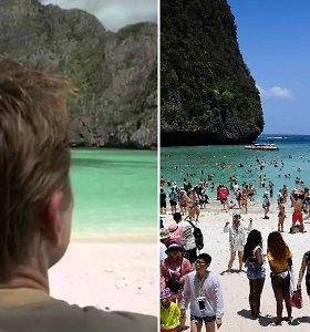 Leonardo DiCaprio išgarsintas paplūdimys Tailande uždaromas nuo turistų
