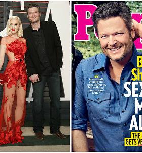 """""""People"""" seksualiausiu pasaulio vyru išrinko Gwen Stefani mylimąjį Blake'ą Sheltoną: ar sutinkate?"""