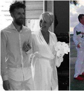 Šv.Bartolomėjaus saloje – dizainerės Aušros Haglund vestuvės: ištekėjo už prancūzų futbolo trenerio