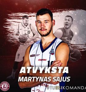 """Martynas Sajus karjerą tęs Panevėžio """"Lietkabelyje"""""""