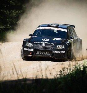 """Skaičius 13 B.Vanagui nelaimingas: patyrė avariją, pasitraukė iš """"Rally Estonia"""""""