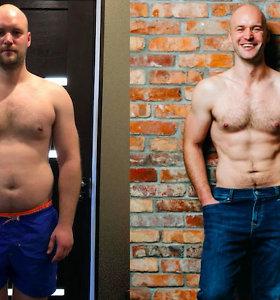 Įkvėptas Militos Daikerytės, vyras iš Vilniaus lengvai numetė 15 kilogramų per 3 mėnesius