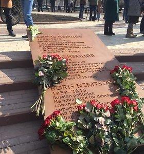 Prie Rusijos ambasados Kijeve atidarytas B.Nemcovo skveras