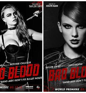 """Taylor Swift pristatė vaizdo klipą """"Bad Blood"""" su ryškiausiomis pramogų pasaulio žvaigždėmis"""