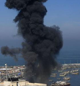 Izraelis po raketų atakos surengė antskrydžius Gazos Ruože