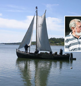 Kuršių mariose rastas kurėnas ir dingusio kapitono R.Adomavičiaus krepšys