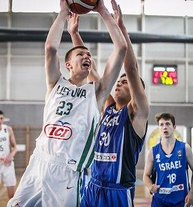 Europos 16-mečių čempionatas: Lietuvos rinktinė nepasigailėjo Izraelio