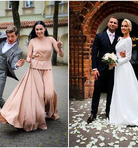 V.Sutkutės vestuvinę suknelę kūrusiai S.Nainei – komplimentai: galėtų puošti pačią hercogienę