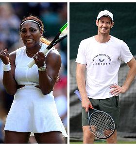 Super komanda – Serena Williams ir Andy Murray Vimbldone žais kartu