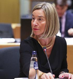 F.Mogherini: ES migrantų misijai reikia skubaus laikino sprendinio