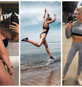 Puikias kūno linijas pademonstravusi Jolanta Leonavičiūtė atskleidė sportiškos figūros paslaptį