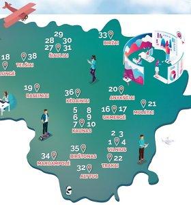 Pasaulinės turizmo dienos proga – ypatingas žemėlapis apie keliones Lietuvoje