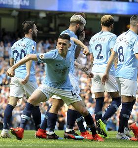 """Revanšą prieš """"Tottenham"""" pasiekęs """"Man City"""" sugrįžo į lygos viršūnę"""