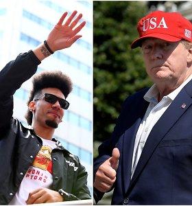 """""""Raptors"""" žaidėjas įgėlė Donaldui Trumpui – NBA čempionai pas jį nesiruošia"""