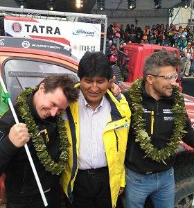 Bolivijos prezidentą sužavėjo Lietuvos ir Bolivijos vėliavų panašumai