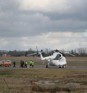 Neplanuotai Vilniaus oro uoste tūpęs sraigtasparnis iš Moldovos kol kas lieka sostinėje