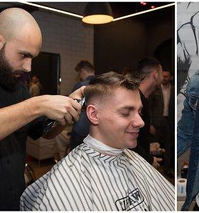 """Barzdaskučių salono atidaryme """"120"""" narys Dovydas Laukys ryžosi netikėtiems pokyčiams"""