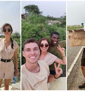 Ugandoje savanoriavę A.Kulitaitė ir R.Darulis: vienu metu galvojome, kad tikrai būsime pagrobti