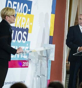 I.Šimonytės ir V.Ušacko debatai: įdomiausios akimirkos