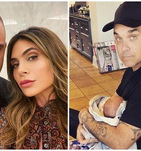 Robbie Williamsas pristatė surogatinės motinos pagimdytą ketvirtą atžalą: pasidalijo miela akimirka