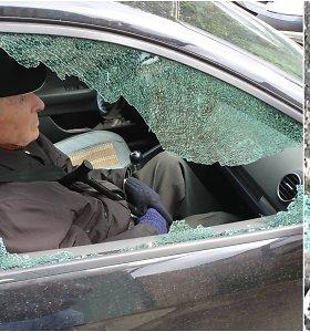 Šiurpą kelianti kauniečio patirtis: pasistatęs mašiną Kauno centre sulaukė šūvių į langą
