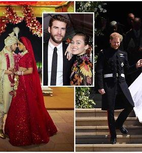 Metų vestuvės: išrinkite įspūdingiausią 2018-ųjų pasaulio garsenybių meilės šventę