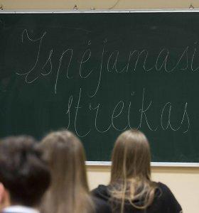 Prie įspėjamojo streiko jungsis apie 1 tūkst. pedagogų 50-yje ugdymo įstaigų
