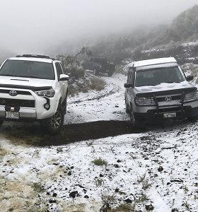 Žiema net Havajuose: kai kuriose vietose pirmą kartą iškrito sniego