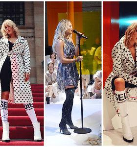 Rita Ora pristatė batų kolekciją: VIP vakarėlyje šėlo ir Monique