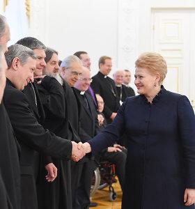 Prezidentė Dalia Grybauskaitė susitiko su dvasininkais