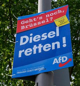 Kraštutiniams dešiniesiems prognozuojami geri rinkimų rezultatai Rytų Vokietijoje
