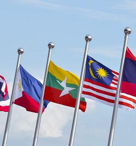 Testas: ar pažinsite šių 10-ies Azijos valstybių vėliavas?