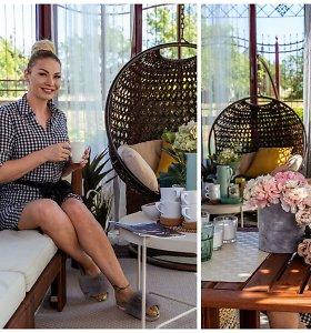 """Natalija Bunkė pravėrė naujų namų duris ir parodė unikalią terasą: """"Čia jaučiuosi lyg """"Dievo ausy"""""""