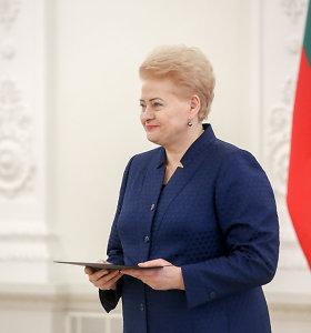 Ministrų kabinetas paskyrė rentą kadenciją baigiančiai D.Grybauskaitei