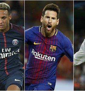 """FIFA paskelbė tris kandidatus """"The Best"""" apdovanojimui gauti"""