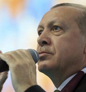 Turkijos prezidentas atvyko į prieštaringai vertinamą mitingą Bosnijoje