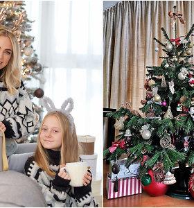 I.Martinkėnaitės šventės: su dukra puošta eglė ir patarimai, kaip neprilipti prie Kalėdų stalo