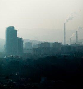 Miestuose padidėjusi oro tarša kietosiomis dalelėmis
