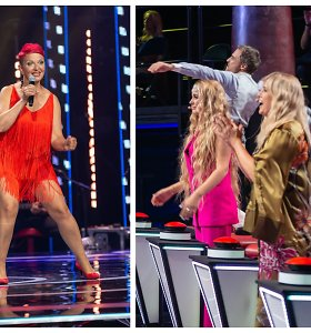 """Senjorės pasirodymas """"Lietuvos balse"""" įplieskė diskusiją: kodėl mokytojai atsisuko vos išgirdę dainą?"""