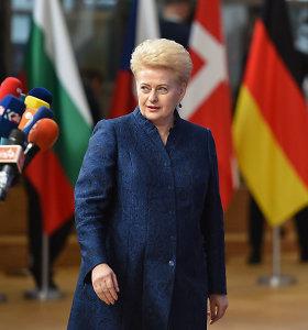 Dalia Grybauskaitė: pabėgėlių kvotų sistema – ne iki galo efektyvi
