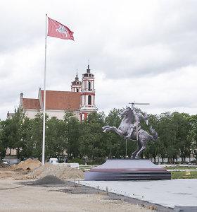 Lukiškių aikštėje Vilniuje rengiamas mitingas dėl Vyčio paminklo